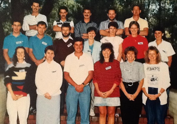 Accountants Course 1988 Front Row - Carol Hawkins, Megan Ballantyne, Murray Klem, Julie Kupke, Linda Pavia, Anne Norris Middle Row Geoff Quick, Terry Bohan, Iam McLean, Ingrid Engelhardt, Cheryl Curtis, Kathy Tamburini, Chris Furness Back Row - Terry Barber, Peter Stephens, Anthony Trigger, Greg Watson, Pauls Jukes