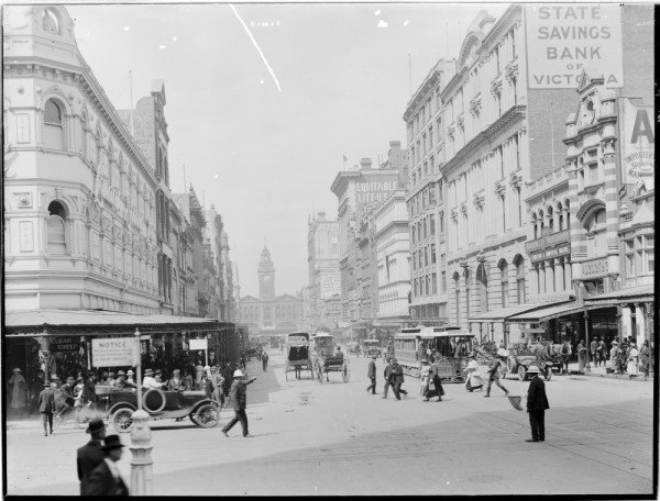 Elizabeth Street looking south towards Flinders St