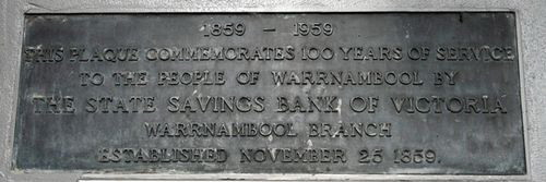 Warnambool Plaque