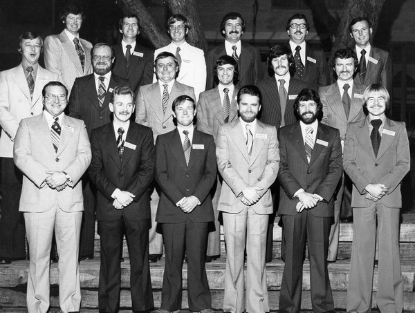 Supervisors' Course 1978 Front Row - Ray Walker, Bill Cooper, John Neumann, Bob Storen, Bernie Rutherford, Jeff Inglis Middle Row - Malcolm Kewish, Ken Smith, Don Hodge, Peter Adams, Brian Elvery, Barry Curley Back Row - Murray Christie, Kevin Pitman, Ross Murrihy, Mark Creamer, Peter Cowan, John McCarthy
