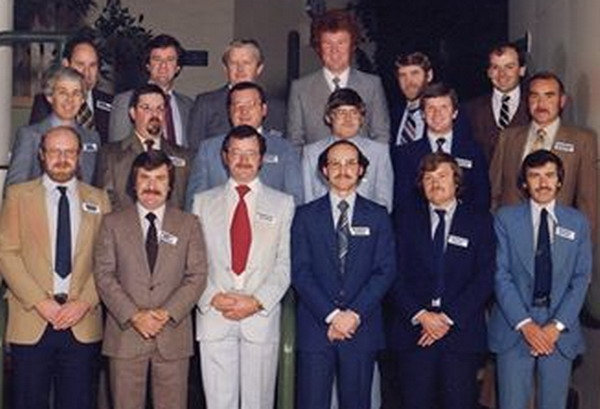 Advanced Accountants' Course 1982 Front Row - Ken Smith, John Kerr, Keith Patford, Noel Ebery, David Jamieson, John Budd <iddle Row - Russell Semmens, Neale Marlow, Ray Walker, John Bullen, Ray Hetherton, Vern Cleeland Back Row - Arthur Robertson, Bob McKenzie, Wayne Marriner, Peter Giblett, Geoff Gourlay, John Burke