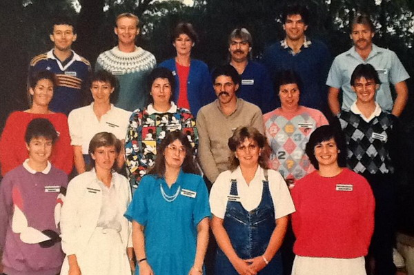 Advanced GC Course 1987 Front Row - Carole Morstead, Michelle Lowry, Colleen Kelly, Kerrie Cole, Katherine Thomas Middle Row - Jennifer Anstee, Loretta Williams, Leanne Cullan, Domenic Auddino, Christine Sandy, Bryan Smith Back Row - Stewart Park, Haydn Cater, Peter Jolly, Norm Gardy, Michael Ryan